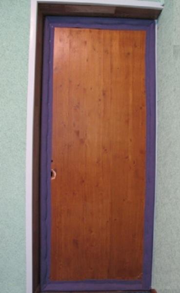 Обить дверь